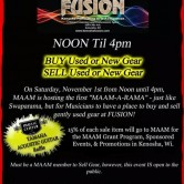MAAM-A-RAMA Gear Swap Meet CANCELLED and will be rescheduled!!!!!